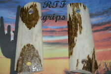 "1911 Full size 4""5"" bbl. Genuine Elk Horn Stag RTF grips made in the USA"
