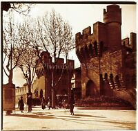 FRANCE Avignon Remparts c1910 Photo Stereo Vintage Plaque Verre VR4L8