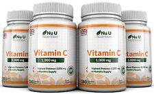Vitamine C 1000mg Nu U 4 bouteilles Grande Force 720 Comprimés 100% Garantie