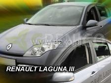 Renault Laguna mk3 5door liftback 2007-2015 wind deflectors 4pc HEKO TINTED new