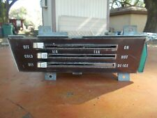 1968 68 IMPALA BELAIR BISCYANE NON-AC HEATER CONTROL PANEL ASSEMBLY UNIT