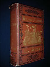 LIFE & LABORS OF DR DAVID LIVINGSTONE 1875 Beautiful edition Illustrated AFRICA