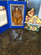 The Lion Wizard of Oz  Character Doll Limited Production And Lion Bank Lot RARE