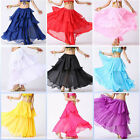 Hot! Elegant Dancing Costume Belly Dance Costume 3 layers circle Spiral Skirt