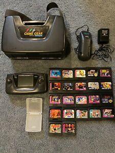 Sega Game Gear - Large Bundle - 22 Games- Case- Sega Battery Pack W/Ninja Gaiden