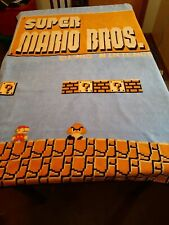"Bio World Nintendo Super Mario Bros Retro Fleece Throw Blanket 48""×60"""