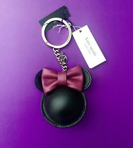 Kate Spade Minnie Mouse Key Chain Fob Ring Bag Charm Brand New