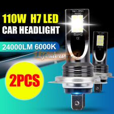 NEW! 2*H7 110W 24000Lm LED Car Headlight Conversion Globes Bulbs Beam 6000K Kit