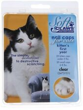 Soft Claws Nail Caps for Cats Kittens - Small, Clear