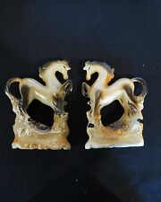 2  Lustreware Horses Collectible Knick- Knacks Made in Brazil Mid Century