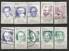 SOUTH AFRICA 1996 NOBEL LAUREATES OF SA COMPLETE POSTALLY USED SET 0088