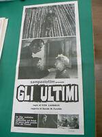 LOCANDINA manifesto GLI ULTIMI regia Vito Landolfi neorealismo italia 1962