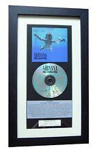 NIRVANA Nevermind CLASSIC CD Album Kurt Cobain QUALITY FRAMED+FAST GLOBAL SHIP