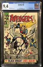 AVENGERS #48 CGC 9.4 (1968) White Pages! 1st App new Black Knight! NM