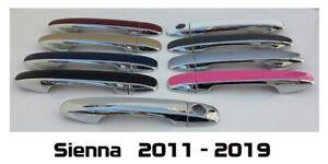 Custom Color & Chrome Door Handle Overlays 2011-2019 Toyota Sienna YOU PICK CLR
