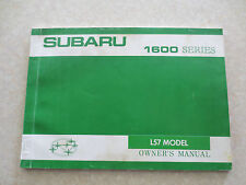 1970s Subaru 1600 series L57 Model owner's manual