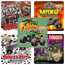 Monster Jam Stickers x 15 - Birthday Favours - Gravedigger - Fan Favs - Trucks