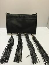 Señoras NEGRAS Borla encanto Embrague Bolso Niñas Bolso Hobo Cross Body Bag ch2455