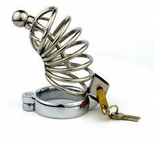 Cage de chasteté métallique avec cadena et tige urètre creuse (version M 45 mm)