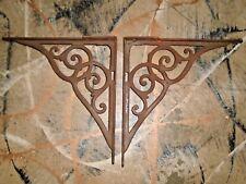 Antique Pair of Heavy Cast Iron Brackets