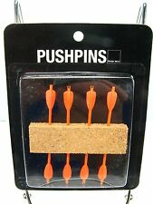 NEW Mini DART ARROW Cork Board PUSHPIN TACK PIN PACK OF 8 - Archery Bow & A