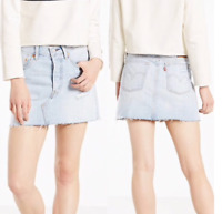 Women's Levi's Deconstructed Denim Skirt  Live Wire Blue - Size 30,31,32