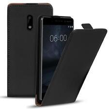 Flip Case Nokia 6 Hülle Pu Leder Klapphülle Handy Tasche Cover Schwarz