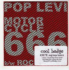 (GO549) Pop Levi, Motorcycle 666 - 2011 DJ CD