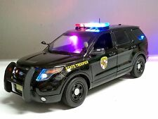 "1/18 Maryland State Trooper POLICE Utility PI SUV Explorer WORKING LIGHTS"" SIREN"