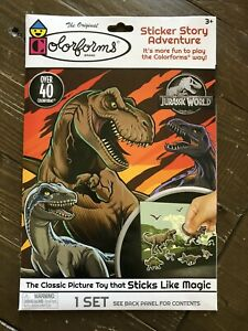 NEW The Original COLORFORMS Sticker Story Adventure Set JURASSIC WORLD Dinosaurs