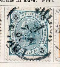Austria 1899 antiguo problema Fine Used 5h. 093430