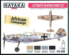 Hataka Hobby Paints GERMAN LUFTWAFFE IN AFRICA COLORS Acrylic Paint Set
