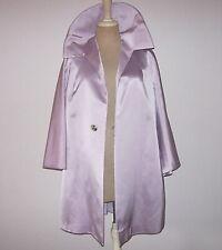 1960s Chloe MOD Vintage Thick Silk Satin Swing Evening Coat Jacket Size Small