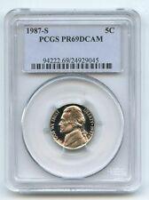 1987 S 5C Jefferson Nickel Proof PCGS PR69DCAM