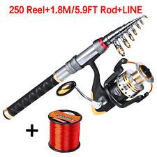 Fishing Combo 1.8M Telescopic Pole 250 Spinning Reels Fishing Rod Reel Combos