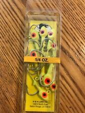 H&H D1410-05 Saltwater Jig Head 1/4 oz.  yellow, red, white 10CT free ship