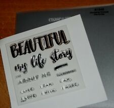 CTMH B1548 JOURNALING PROMPTS ~ my life story, BEAUTIFUL, about me, I LOVE: