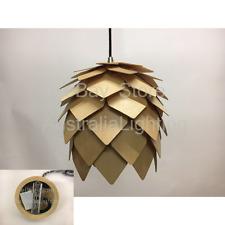 NEW Pinecone Wood Pendant Light Dia.25cm Replica Wooden