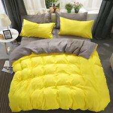 Candy Color Print Bedding Set Duvet Quilt Cover+Sheet+Pillow Case Four-Piece New