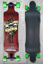 Longboard Teamsix Skateboard - Design C con cuscinetti ultra precisi ABEC11