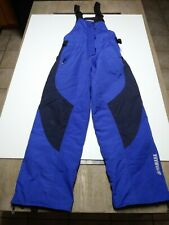 Mens YAMAHA Ski Snow Pants Bibs Overalls Blue/Black Sz Small Reg. Insulated