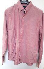 Lands' End Pink Long Sleeve 100% Cotton Oxford Dress Shirt 16-16.5 Large