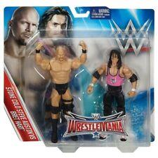 WWE Wrestle Mania Pack Series 32 Stone Cold Steve Austin vs Bret Hart ~ NEW
