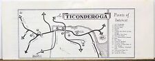 1960's Ticonderoga New York town map and directory of businesses b