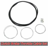 Universal Motorcycle Clutch Brake Throttle Cables Harness Black Outer Cable AU