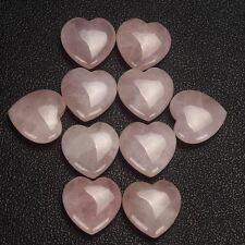Natural Rose Quartz Crystal Carved Heart Shaped Palm Healing Love Gemstone Pink