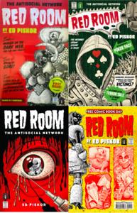 RED ROOM #1 2 3 & FCBD #1 SET (NM) 2021 FANTAGRAPHICS BOOKS - ED PISKOR HORROR