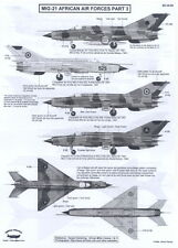 Berna Decals 1/48 MIKOYAN MiG-21 FISHBED Fighter African Air Forces Part 3
