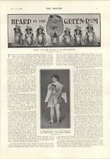 1906 Newspaper Dress Claire Romaine Marie Brema Perceval Allen Gazeka Akezag