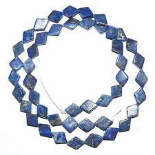 "NG2482f Blue Lapis Lazuli 9mm -11mm Flat Diamond Natrual Gemstone Beads 15"""